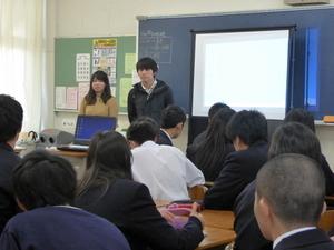 松戸市立松戸高等学校にて海外探検隊OB/OG達が出前授業